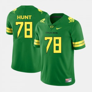 Cameron Hunt Oregon Jersey College Football Mens #78 Green 505707-180