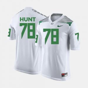 #78 Men's Cameron Hunt Oregon Jersey White College Football 995590-375