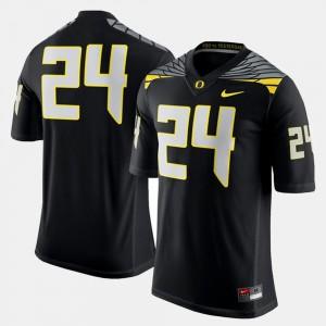 Black #24 Oregon Jersey Men's College Football 534763-248
