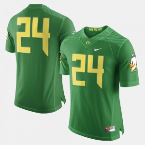 College Football Green #24 For Men's Oregon Jersey 181309-861