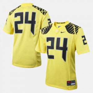 Yellow Oregon Jersey #24 Youth College Football 369996-647