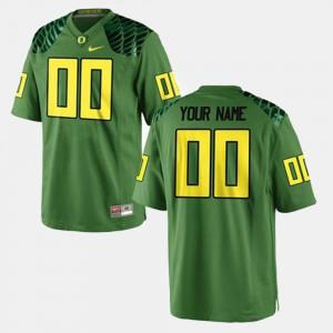 College Football #00 For Men's Green Oregon Custom Jersey 937149-140