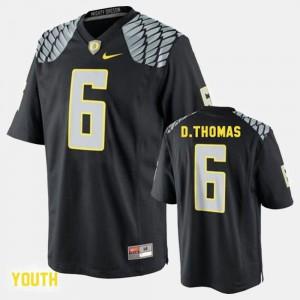 De'Anthony Thomas Oregon Jersey Youth College Football Black #6 338323-351