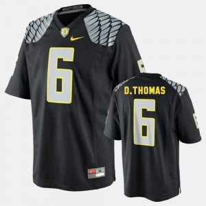 For Men #6 College Football Black De'Anthony Thomas Oregon Jersey 818871-442