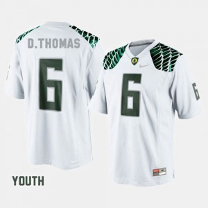 White For Kids #6 College Football De'Anthony Thomas Oregon Jersey 920632-773