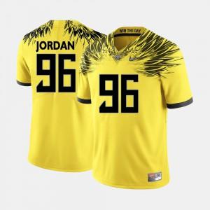 Dion Jordan Oregon Jersey Yellow Mens #96 College Football 460951-492