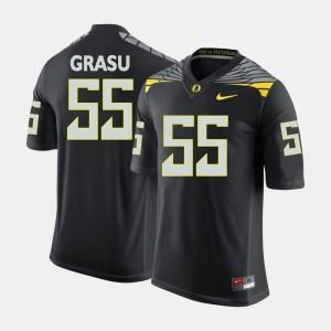 Mens Hroniss Grasu Oregon Jersey College Football #55 Black 370755-878