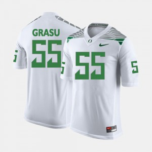 #55 Hroniss Grasu Oregon Jersey For Men College Football White 928832-288