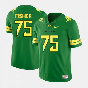 Green Jake Fisher Oregon Jersey For Men College Football #75 994656-274