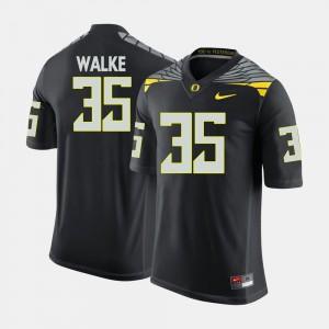 Black Joe Walker Oregon Jersey #35 College Football For Men's 815454-163