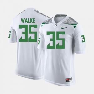 Men's #35 White College Football Joe Walker Oregon Jersey 944774-239