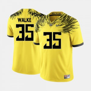 College Football Yellow Men's #35 Joe Walker Oregon Jersey 829200-143