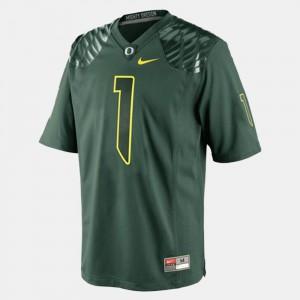 College Football Green Josh Huff Oregon Jersey #1 For Men 484771-659