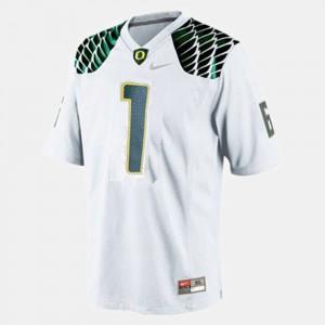 College Football Men #1 White Josh Huff Oregon Jersey 417911-746