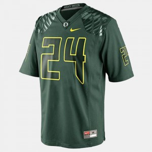 Men's Green #24 Kenjon Barner Oregon Jersey College Football 895118-425