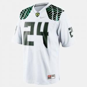 White Kenjon Barner Oregon Jersey College Football Youth(Kids) #24 269326-744