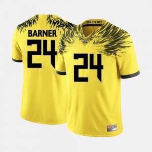 College Football Yellow For Men's #24 Kenjon Barner Oregon Jersey 903764-742