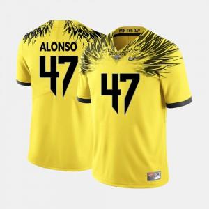 Kiko Alonso Oregon Jersey College Football Yellow #47 Men's 395751-857