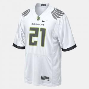 College Football LaMichael James Oregon Jersey White #21 For Men's 391229-248