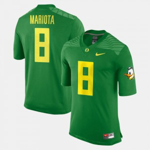 #8 Green Marcus Mariota Oregon Jersey Alumni Football Game For Men 440875-623