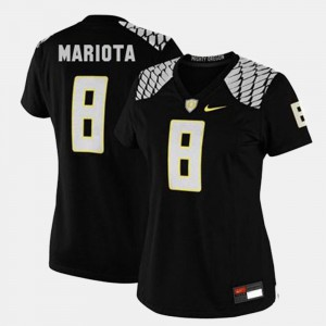 For Women's Marcus Mariota Oregon Jersey Black #8 College Football 597404-903