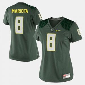 #8 Green Ladies Marcus Mariota Oregon Jersey College Football 694448-555