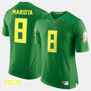 #8 Marcus Mariota Oregon Jersey For Kids College Football Green 209682-376