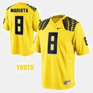 Marcus Mariota Oregon Jersey #8 College Football Yellow Youth 814663-628