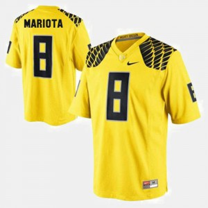 Men's Marcus Mariota Oregon Jersey Yellow #8 College Football 491154-707
