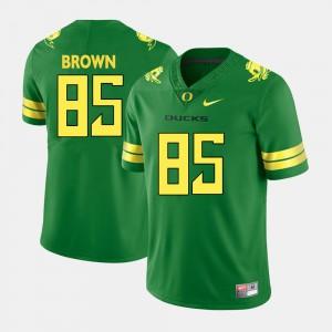 Mens College Football #85 Pharaoh Brown Oregon Jersey Green 544731-185
