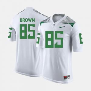 Men White College Football #85 Pharaoh Brown Oregon Jersey 541250-841