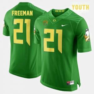 Royce Freeman Oregon Jersey For Kids #21 College Football Green 125663-474