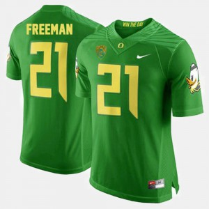 For Men's #21 Royce Freeman Oregon Jersey College Football Green 483640-895