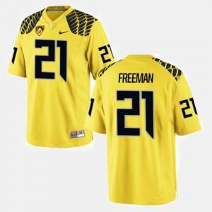 Royce Freeman Oregon Jersey #21 College Football Men Yellow 367988-775