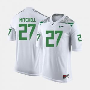 College Football #27 White Terrance Mitchell Oregon Jersey Men 623472-444