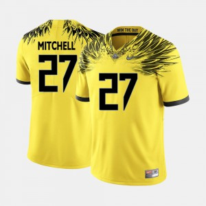 For Men Yellow College Football #27 Terrance Mitchell Oregon Jersey 788048-749