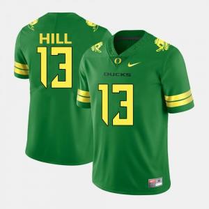 #13 College Football Mens Green TroyHill Oregon Jersey 980243-325