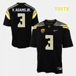 Vernon Adams Oregon Jersey Kids #3 College Football Black 813623-530