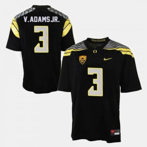 College Football Vernon Adams Oregon Jersey Black #3 Men's 445885-859