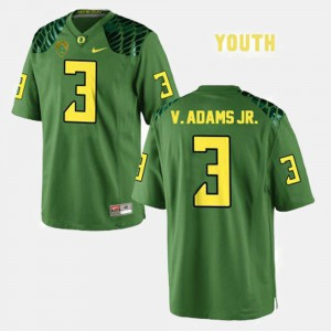 Youth(Kids) Green Vernon Adams Oregon Jersey #3 College Football 193852-602