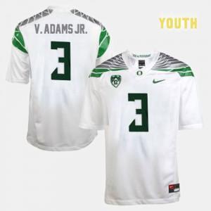 Vernon Adams Oregon Jersey College Football White #3 For Kids 462500-797