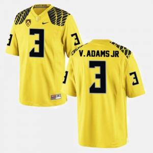 #3 College Football Vernon Adams Oregon Jersey Yellow Men 152707-794