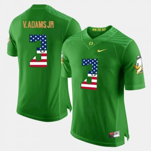 For Men's Vernon Adams Jr Oregon Jersey Green US Flag Fashion #3 912951-541