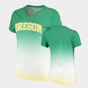 Green V-Neck Oregon T-Shirt Ombre Ladies 715494-117