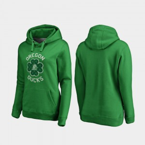 Oregon Hoodie St. Patrick's Day Luck Tradition Women Kelly Green 298136-742