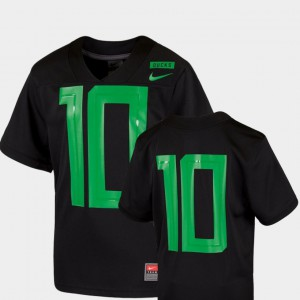 2018 Mighty Oregon Black #10 Youth(Kids) Football Game Oregon Jersey 239571-286