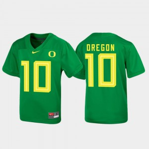 #10 Untouchable Football Green For Kids Oregon Jersey 716125-564