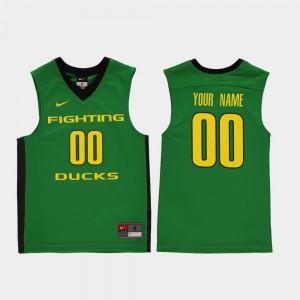 Oregon Customized Jersey College Basketball Green Kids Replica #00 480776-232