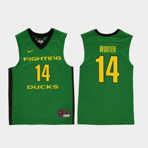 Replica Youth(Kids) Kenny Wooten Oregon Jersey College Basketball #14 Green 830428-707