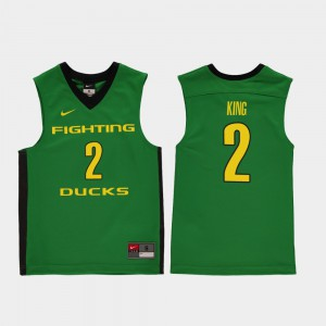 Green #2 Youth(Kids) College Basketball Replica Louis King Oregon Jersey 632756-481